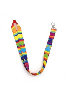 Keycord Rainbow Heart