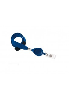 Keycord with Retractable Badge Blue