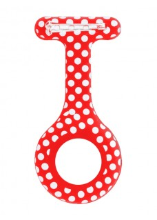 Silicone Cover Polka Dots Red