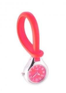 Silicone Hang Watch Red