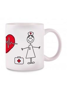 Mug Stick Nurse White