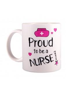 Mug Proud to be a Nurse 2 White