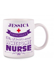 Mug Awesome Nurse with name print