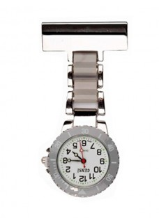 Nurses Fob Watch Silver Grey