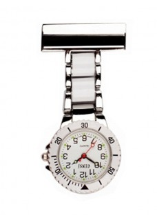 Nurses Fob Watch Silver White