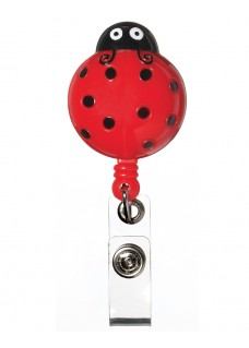 Deluxe Retracteze ID Holder Lady Bug