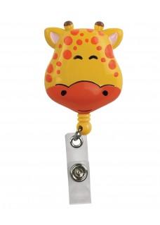 Deluxe Retracteze ID Holder Giraffe