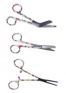 Scissors Set Asian Flower