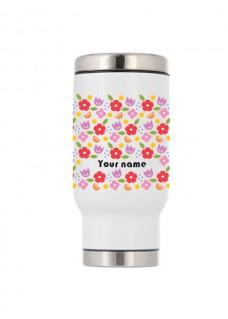 Thermo Travel Mug Vintage Flowers