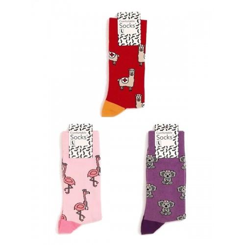 Nurse Womens Socks Set Animals