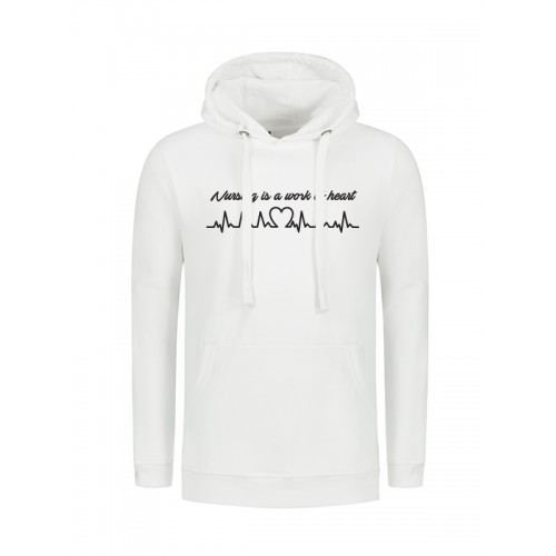 Hoody Work of Heart White