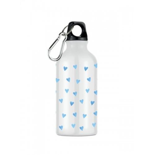 Drink Bottle Blue Hearts