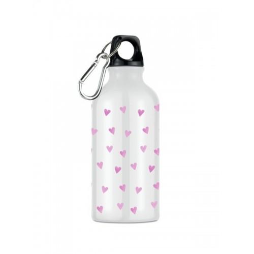 Sport Drink Bottle Pink Hearts
