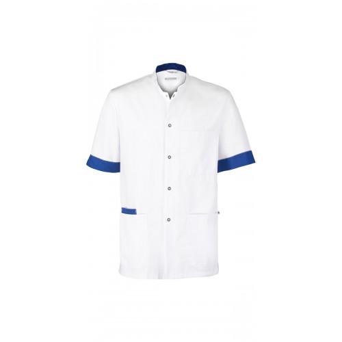 Haen Nurse Uniform Floris White/Royal Bleu