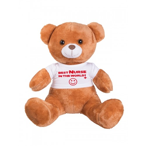 Teddy Bear Best Nurse In The World  with FREE name print