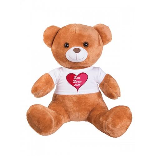Teddy Bear Best Nurse Ever with FREE name print