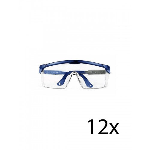 Hospitrix Safety Glasses Blue 12 pcs