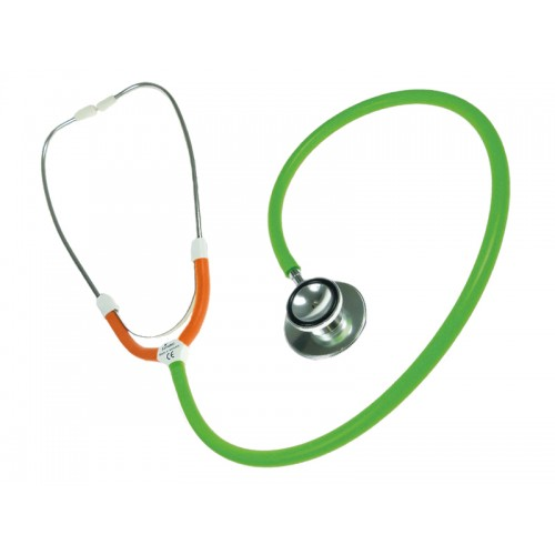 CBC Dual Head Stethoscope Green/Orange
