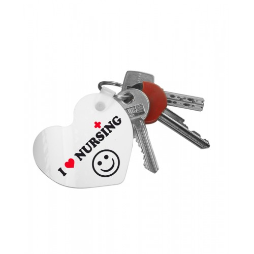 Key Chain Heart Love Nursing with Name Print