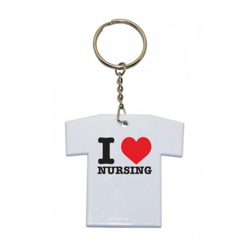 Key Chain T-Shirt I Love Nursing