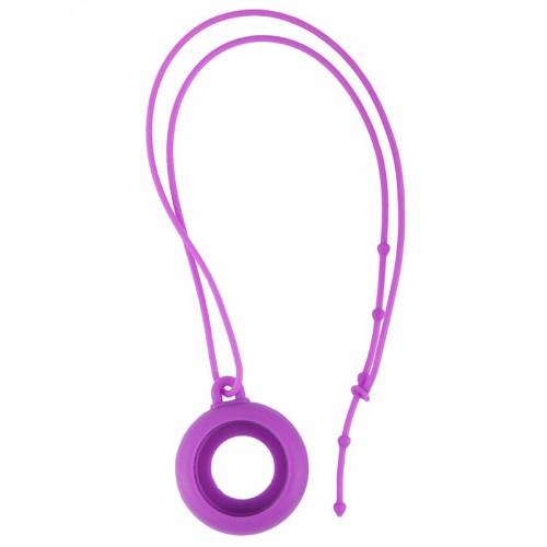 Silicone Lanyard Purple