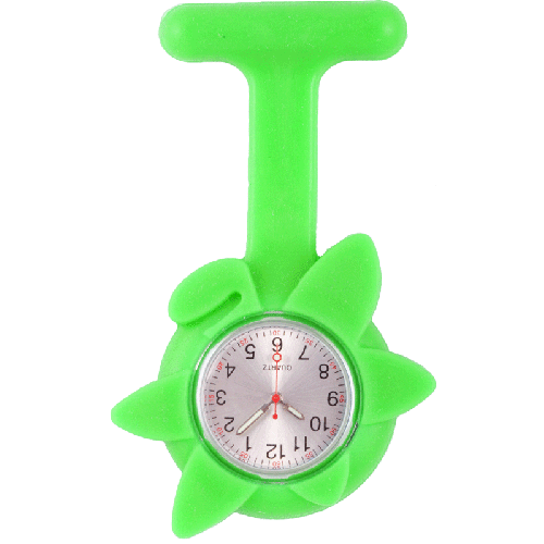 Silicone Spring Flower Fob Watch Lime Green