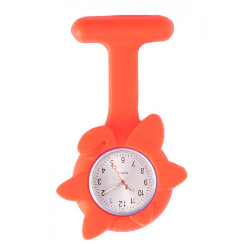 Silicone Spring Flower Fob Watch Red