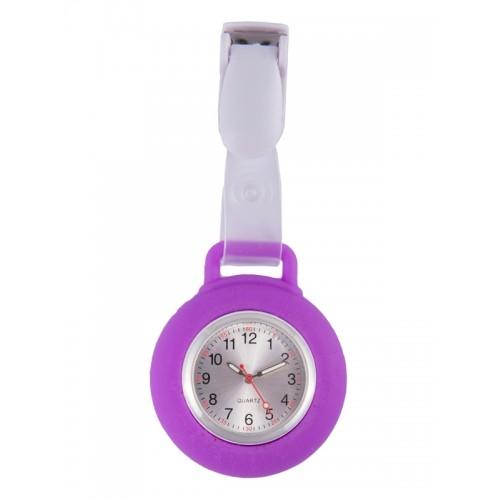 Silicone Nurses Fob Watch Clip Purple