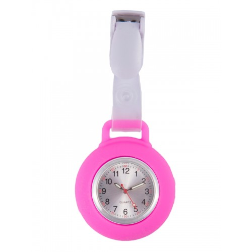 Silicone Nurses Fob Watch Clip Pink
