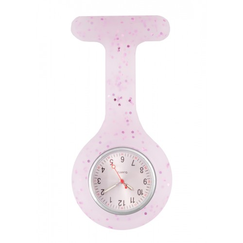Silicone Nurses Fob Watch Glitter Purple