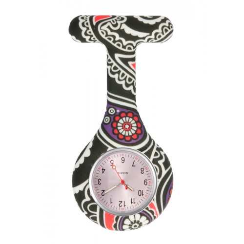 Nurses Fob Watch Paisley