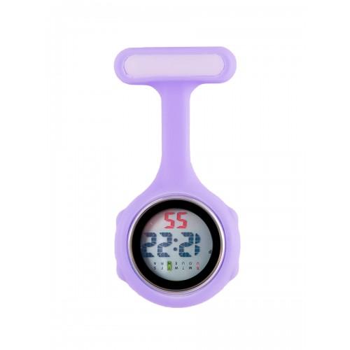 Digital Nurses Fob Watch Lilac