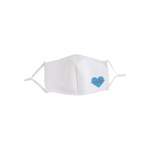 Face Mask Blue Heart