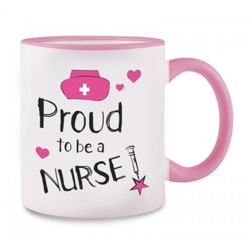Mug Proud to be a Nurse 2 Pink