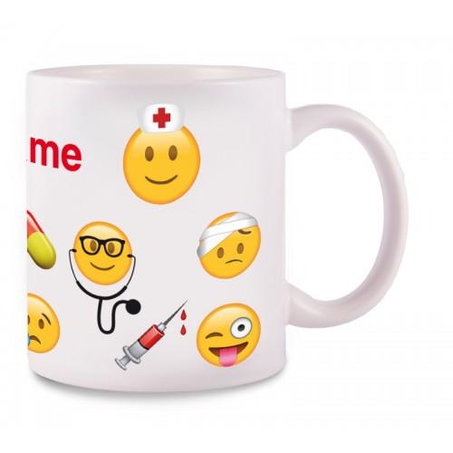 Mug Emoji Nurse with Name Print