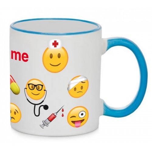 Mug Emoji Nurse Blue