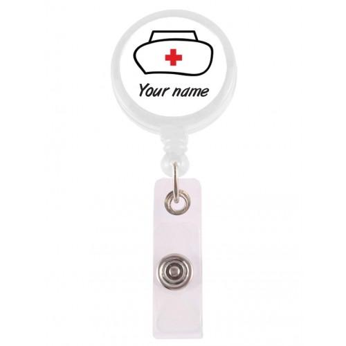 Retracteze ID Holder Nurse Hat with FREE name print