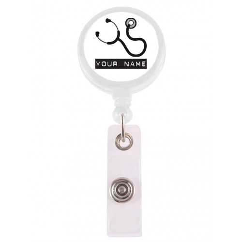 Retracteze ID Holder Stethoscope with FREE name print