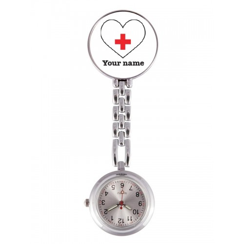 Fob Watch White Heart