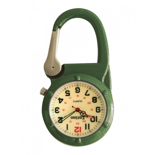 Nurse Clip Watch NOC470 Luminous Green