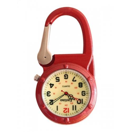 Nurse Clip Watch NOC472 Luminous Red