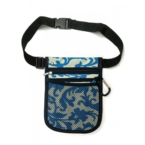 Nurses Carry Pouch Swirls Blue
