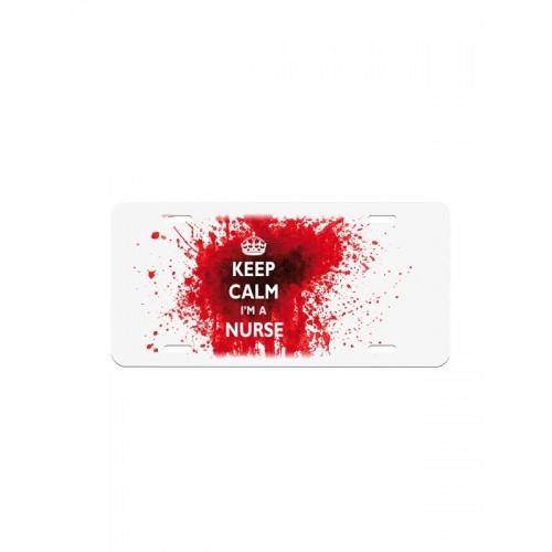 License Plate Keep Calm Nurse
