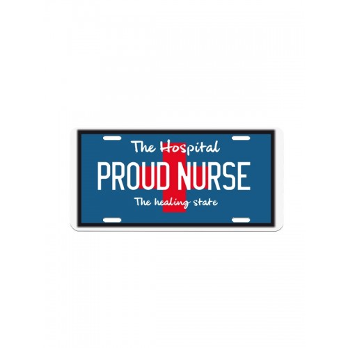 License Plate Proud Nurse