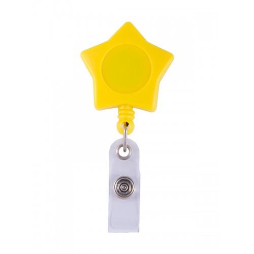 Retracteze ID Holder Yellow Star