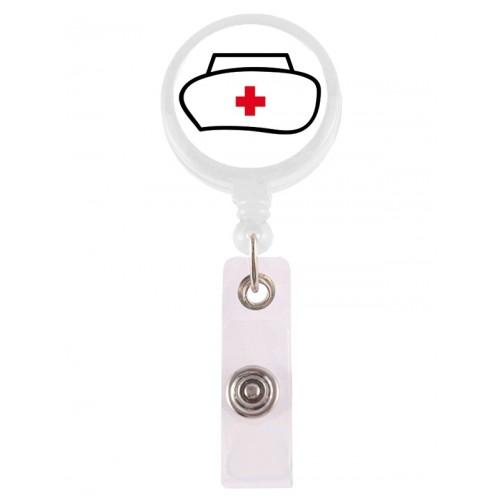 Retracteze ID Holder Nurse Hat