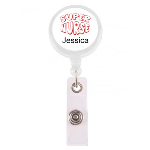 Retracteze ID Holder Super Nurse 2 with FREE name print