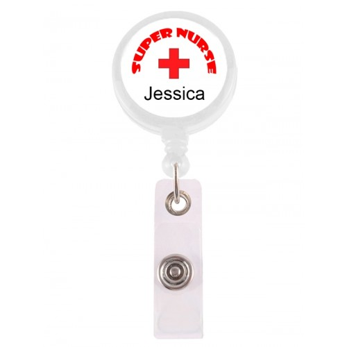 Retracteze ID Holder Super Nurse 1 with FREE name print