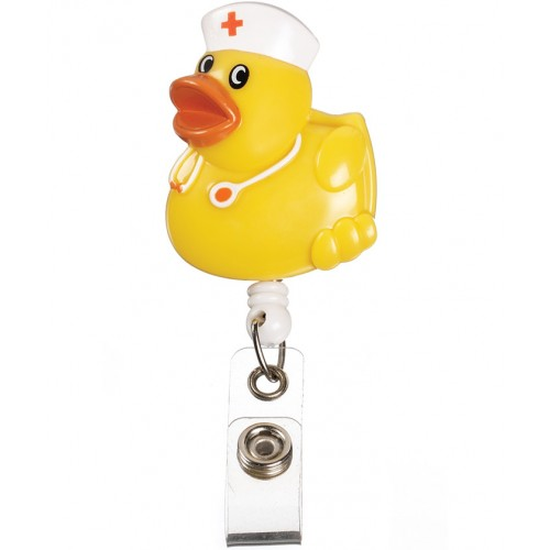 Deluxe Retracteze ID Holder Yellow Duck