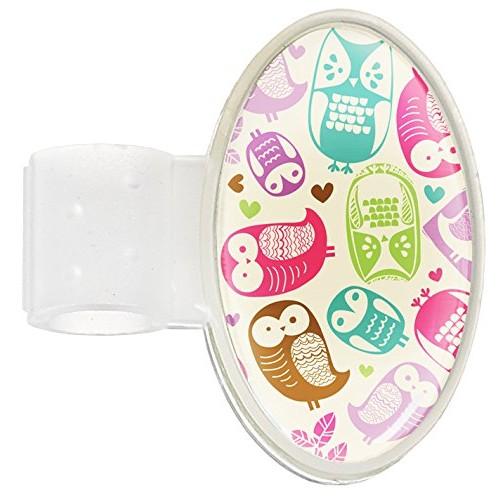 Stethoscope ID Tag Owl Cream